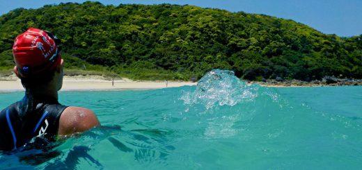 浦田海水浴場 種子島トライアスロン(種トラ)スイムコース