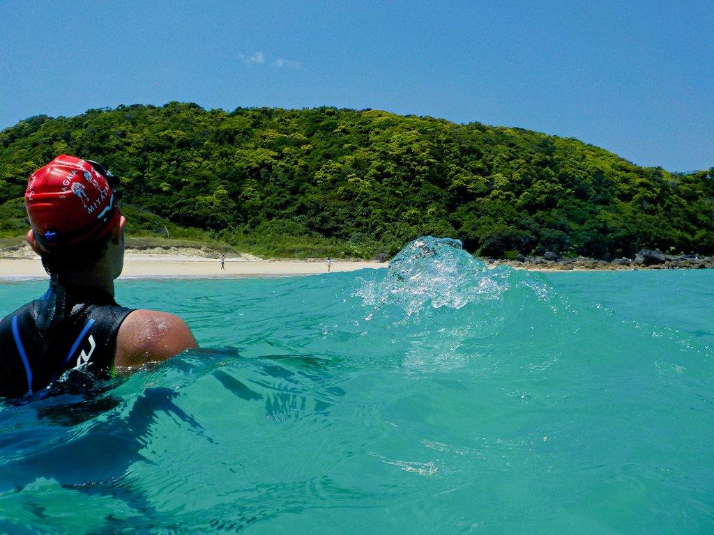 浦田海水浴場 種子島トライアスロン(種トラ)スイムコース案
