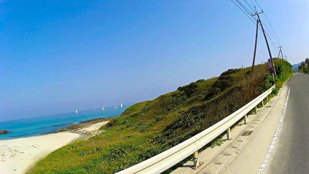 ジロ・デ・種子島(島半周の部)ーサイクリング約3km地点:美浜
