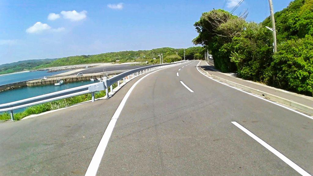ジロ・デ・種子島(島半周の部)ーサイクリング約24km地点:田之脇港