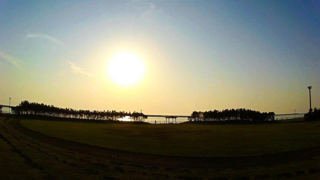 ジロ・デ・種子島(島半周の部)ーサイクリングゴール約77km地点:日ポみなと公園