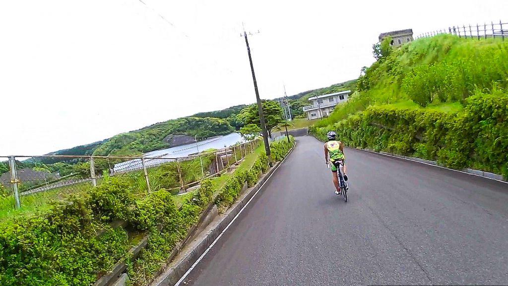 ジロ・デ・種子島(島半周の部)ーサイクリング約9km地点:西京ダムの堤体付近