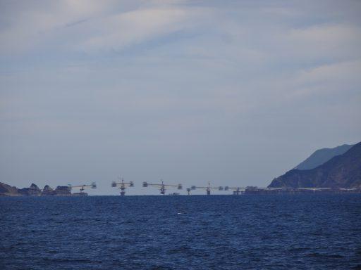 工事中の藺牟田瀬戸架橋:こしき島アクアスロン2018 参加レポート