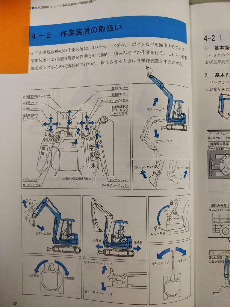 JIS操作方法:小型車両系建設機械 運転資格取得体験記