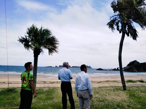 JTU会長が来島し、島の全自治体との協議実現